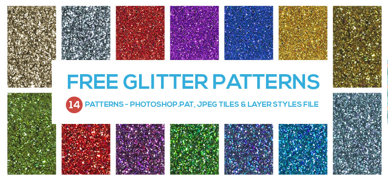 Free Glitter Patterns & Styles - Seamless Repeat Photoshop Textures