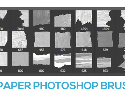 Free – Torn paper brush set