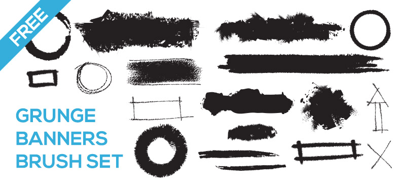 Free High Res Grunge Banner Photoshop Brushes Mels Brushes