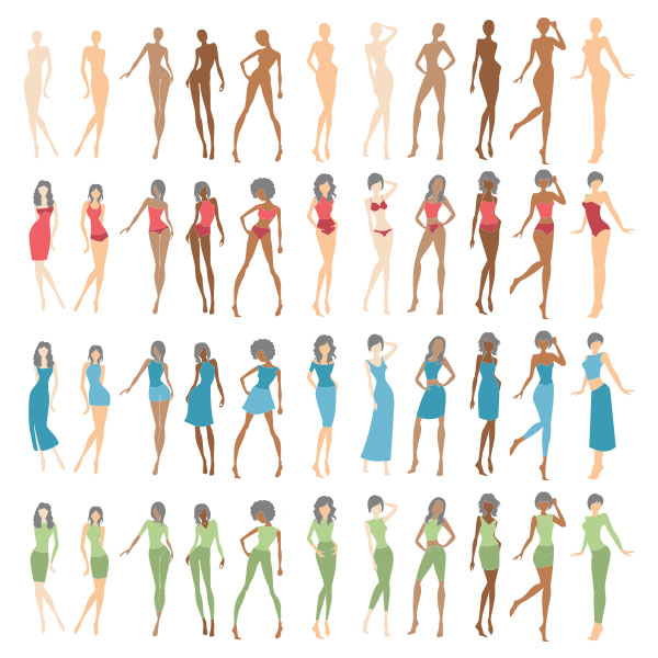 fashion illustration vector amp psd croquis dressup doll