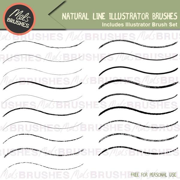 Free Natural Line Illustrator Brushes - Mels Brushes
