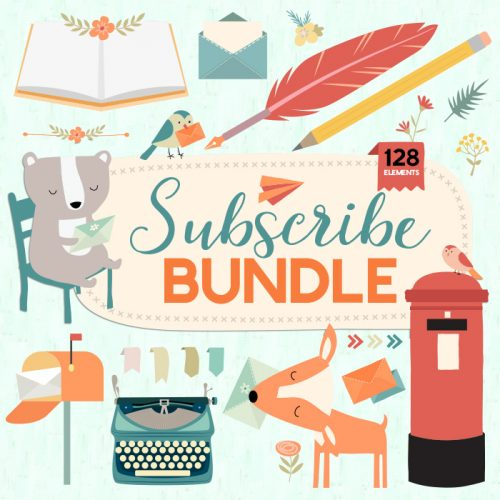 Newsletter & Mailing List Bundle - Vector Clipart Illustration