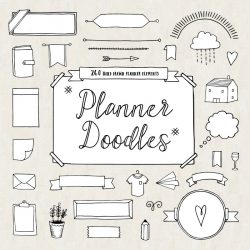 Download Bullet Journal Diary Planner Vector Doodles