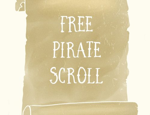 Free Ancient Pirate Scroll PNG Graphic Clipart