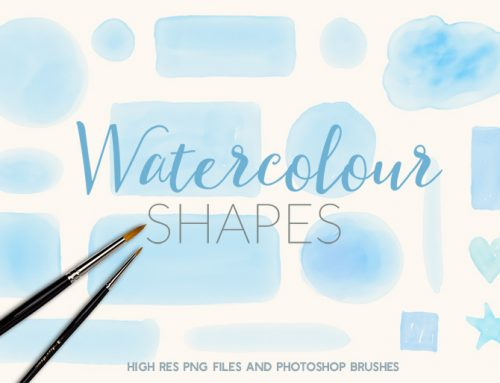 Free Photoshop Brushes & PNG Watercolour Badges and Button Elements