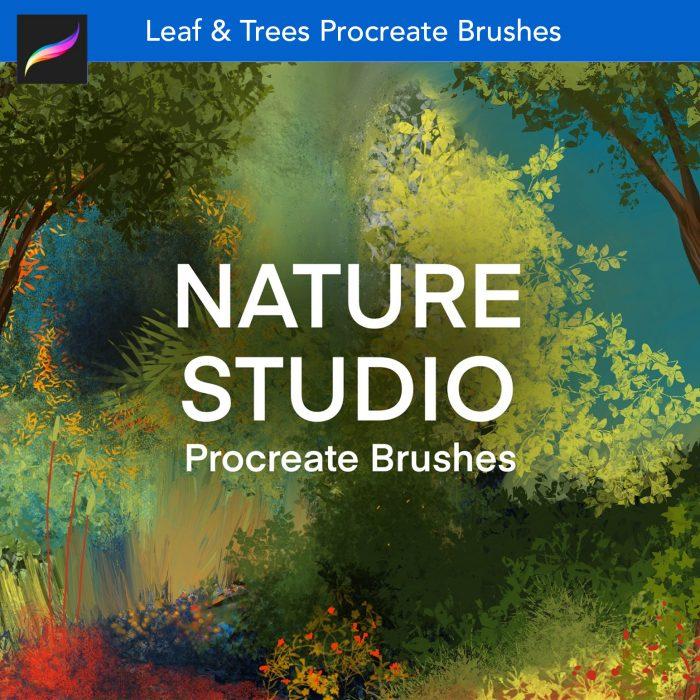 Nature stufio leaf trees bob ross procreate brushes