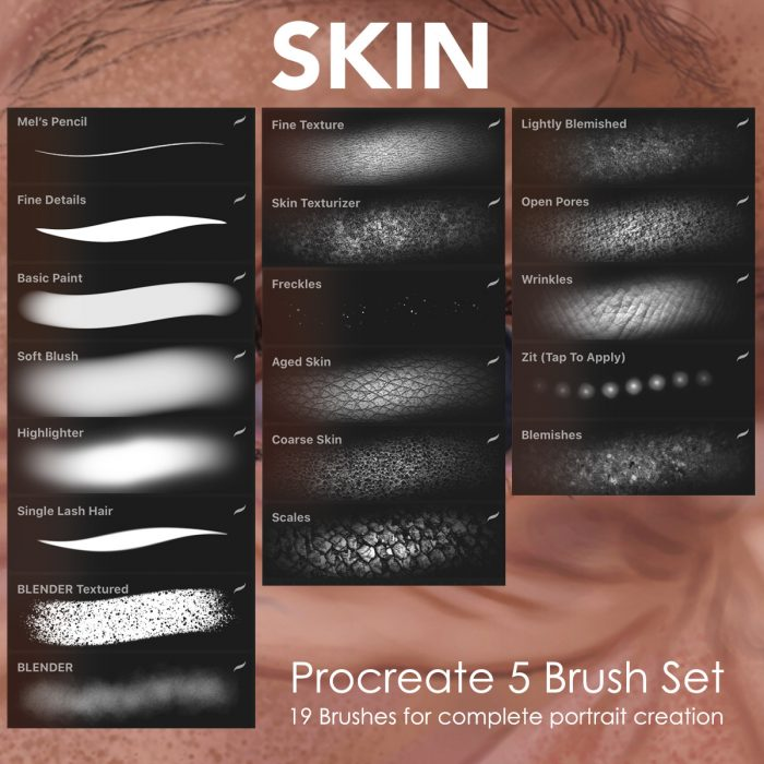 Skin Portrait Brushes Procreate