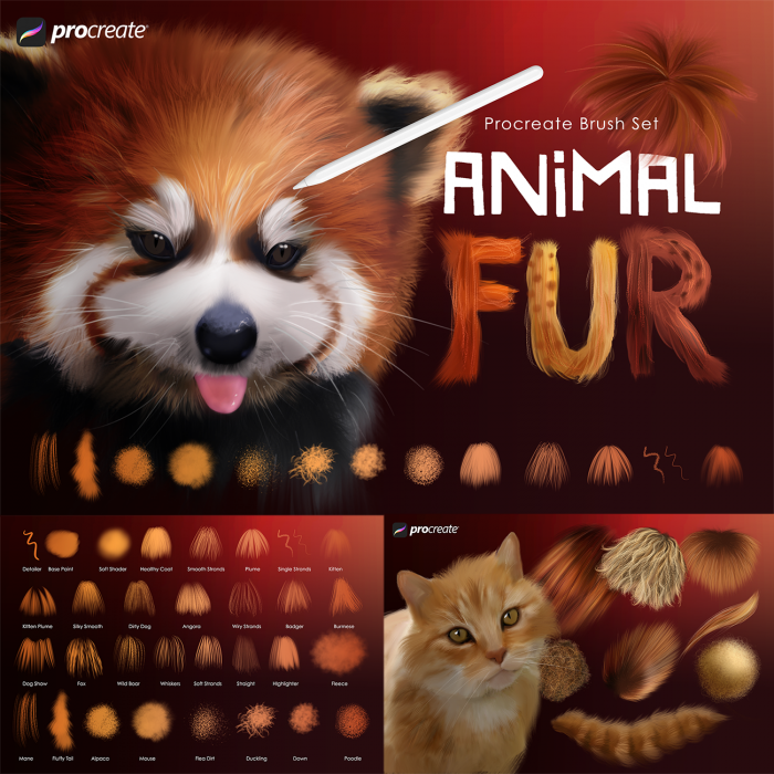 Animal Fur Procreate Brushes
