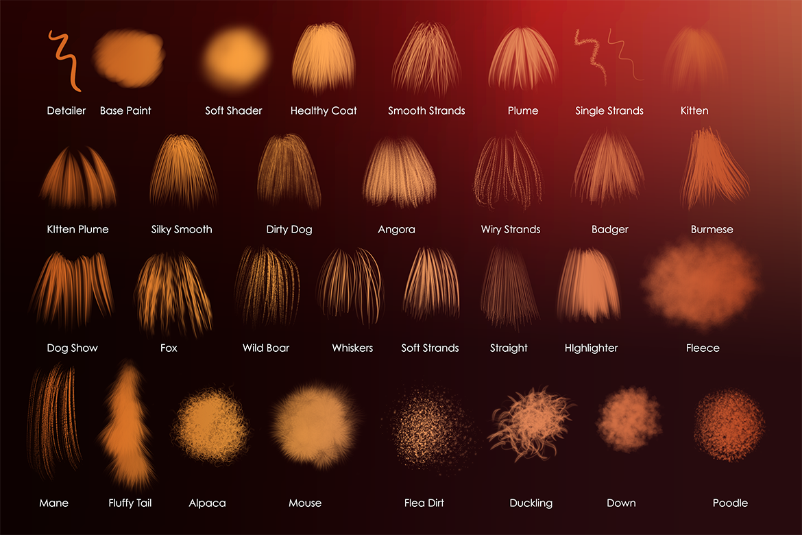 Animal Fur And Hair Procreate Brushes Mels Brushes