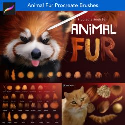 Animal Fur and Hair Procreate Brushes