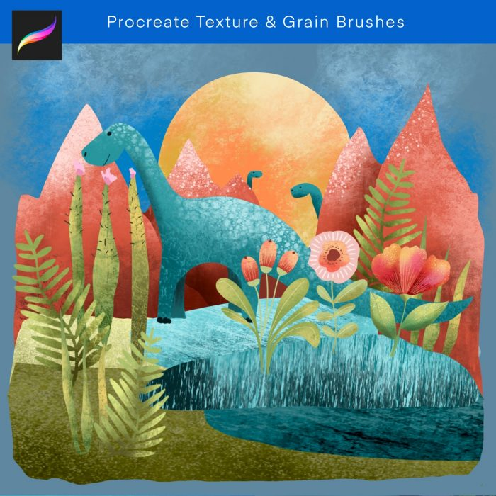 Procreate texture and grain brushes