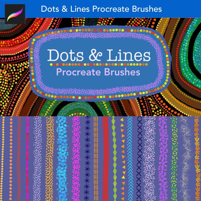 Dots and Lines Procreate Brushes