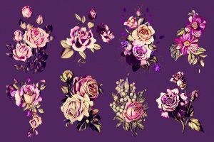 Vintage Floral Flowers Clipart Free