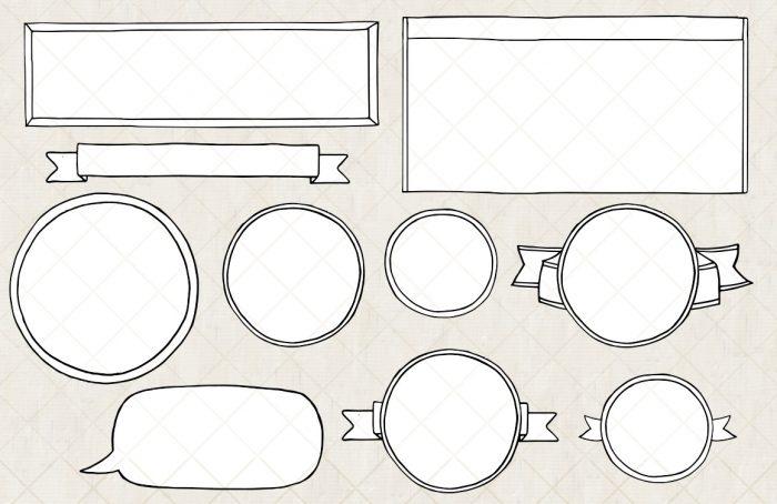 Download Bullet Journal Diary Planner Vector Doodles