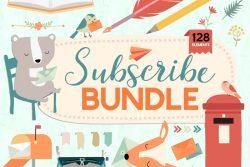 Newsletter & Mailing List Bundle - Vector Clipart Illustration