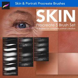 Skin portrait painting procreate-brushes