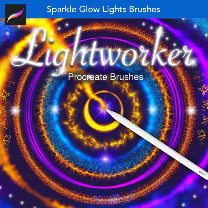 lights flames neon procreate brushes