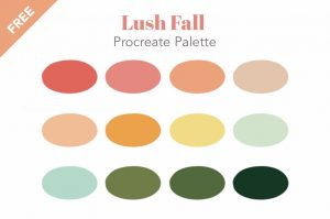 Free Procreate swatches palette