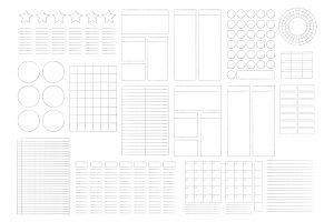 journal diary organiser frames