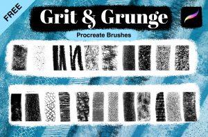 Free Procreate texture brushes